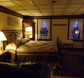 King size bed in the Annie Harper Room